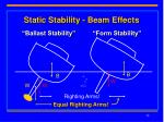static stability beam effects