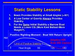 static stability lessons