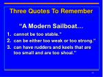 three quotes to remember a modern sailboat