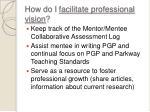 how do i facilitate professional vision