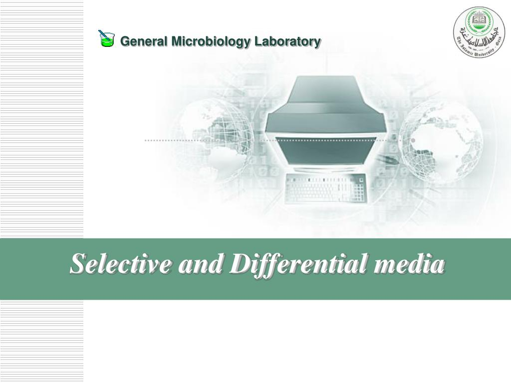 selective and differential media l.