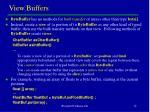 view buffers