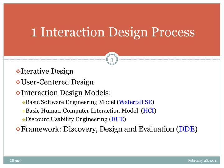 1 interaction design process