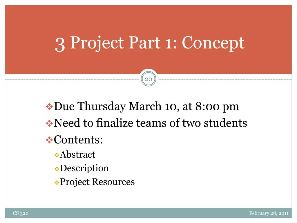 Due Thursday March 10, at 8:00 pm