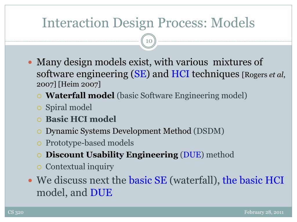 Interaction Design Process: Models