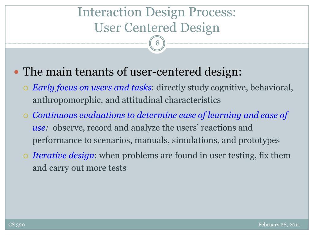 Interaction Design Process: