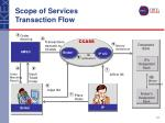 scope of services transaction flow
