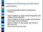 pandemic flu planning for individuals and families23