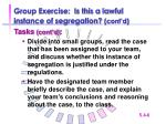 group exercise is this a lawful instance of segregation cont d