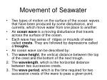 movement of seawater