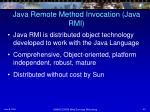 java remote method invocation java rmi