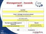 management towards 2015