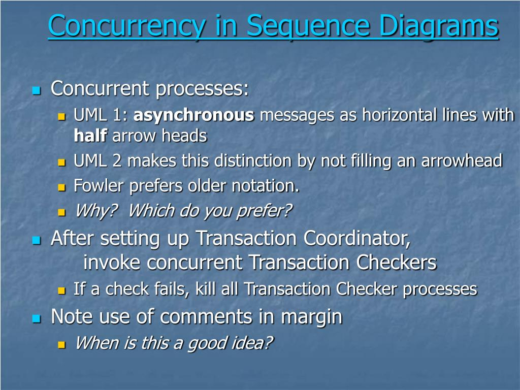 Concurrency in Sequence Diagrams