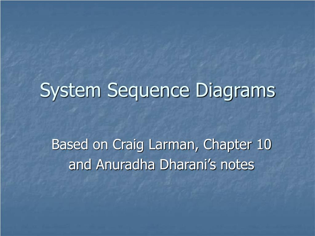 system sequence diagrams l.