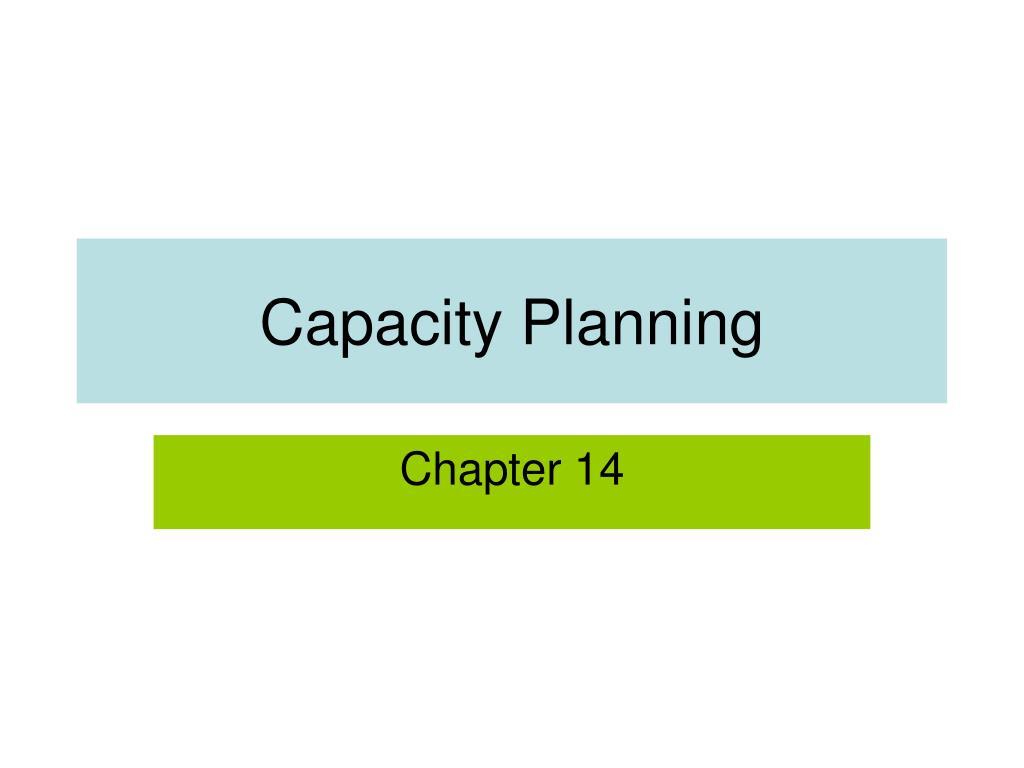 capacity planning l.