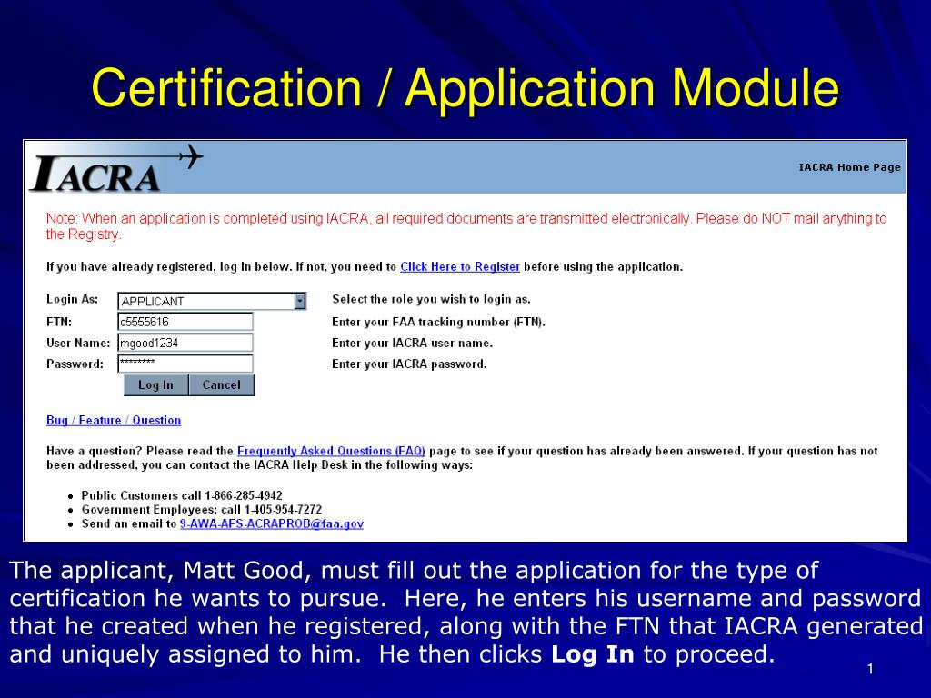 certification application module l.