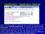 certification application module5