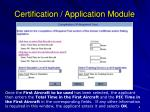 certification application module8