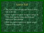 aztecs fall