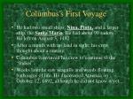 columbus s first voyage