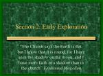 section 2 early exploration