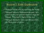 section 2 early exploration17