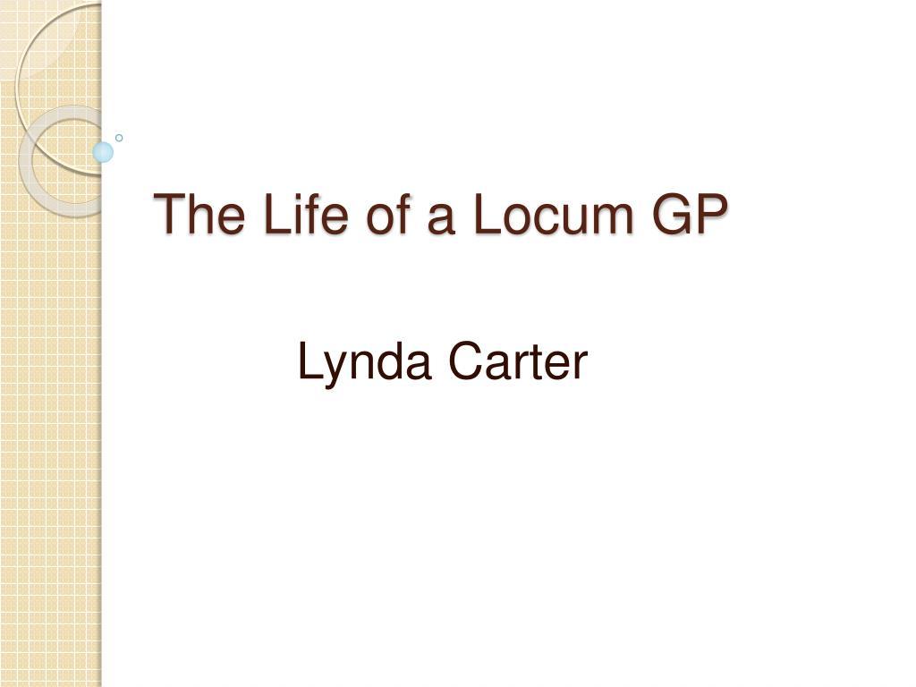 the life of a locum gp l.