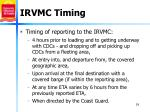 irvmc timing