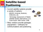 satellite based positioning