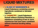 liquid mixtures