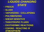 liquids changing state