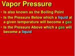 vapor pressure