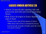 leases under article 2a
