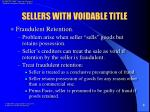 sellers with voidable title