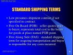 standard shipping terms