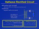 halfwave rectified circuit