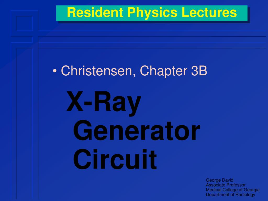 resident physics lectures l.