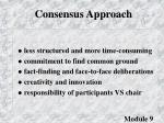 consensus approach