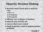 majority decision making