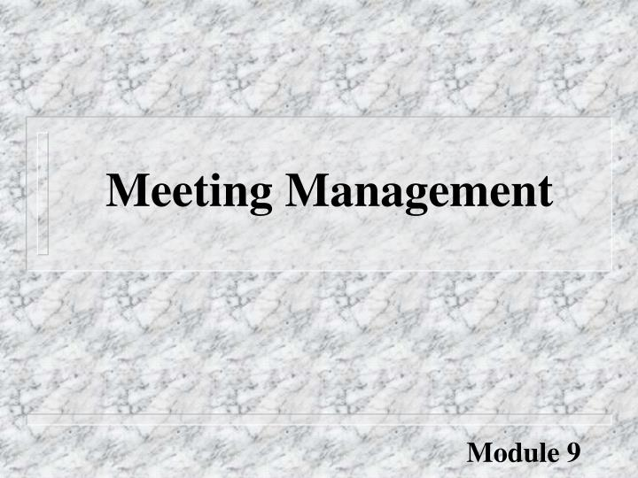 meeting management n.
