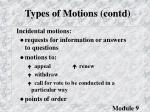 types of motions contd