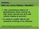 activity why are some nations wealthy