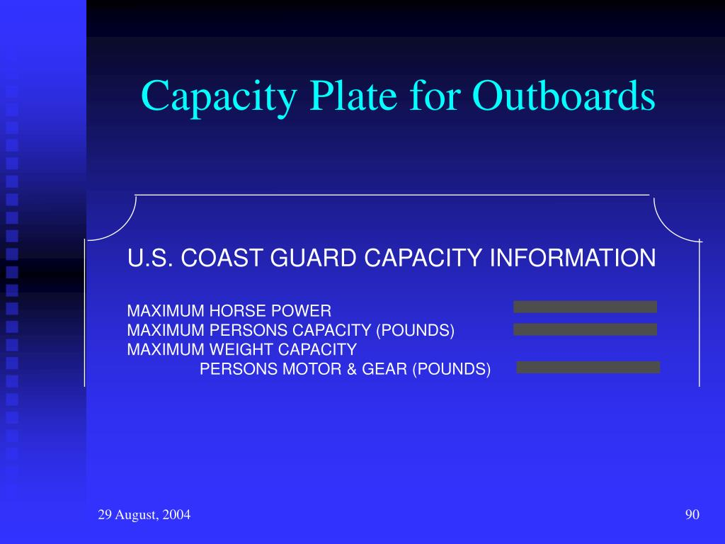 Capacity Plate for Outboards