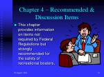 chapter 4 recommended discussion items