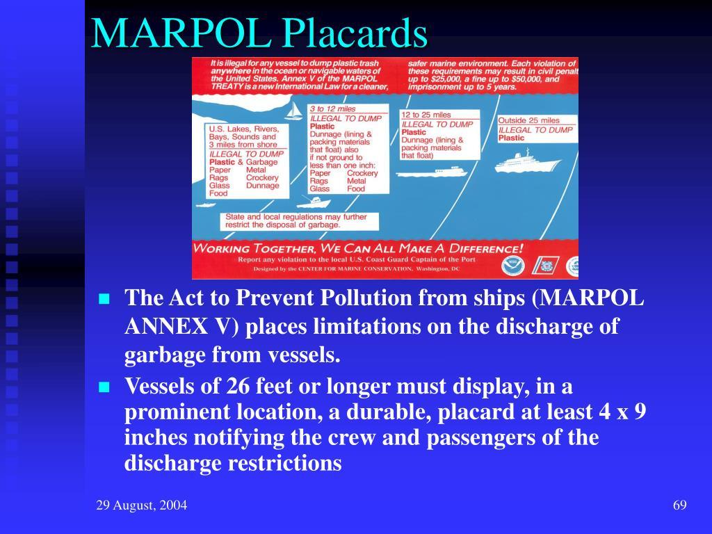 MARPOL Placards