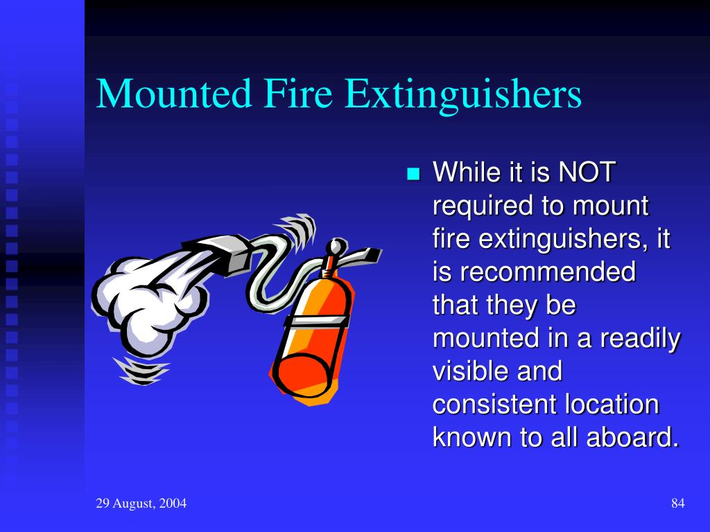 Mounted Fire Extinguishers