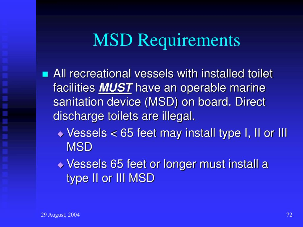 MSD Requirements