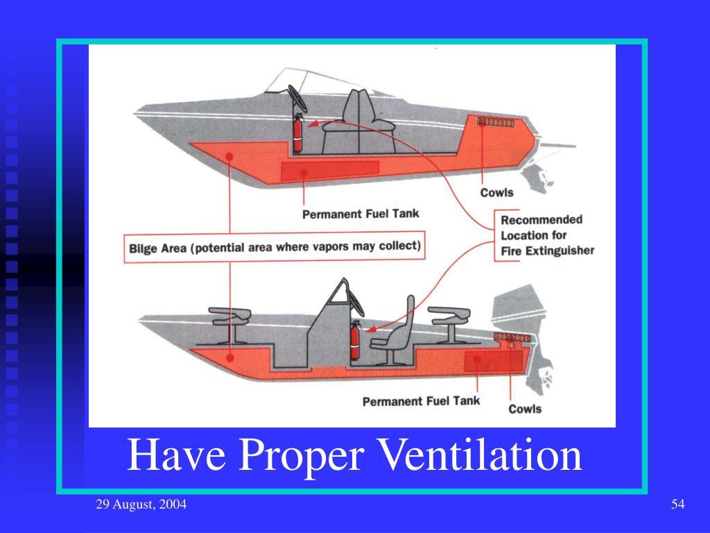 Have Proper Ventilation