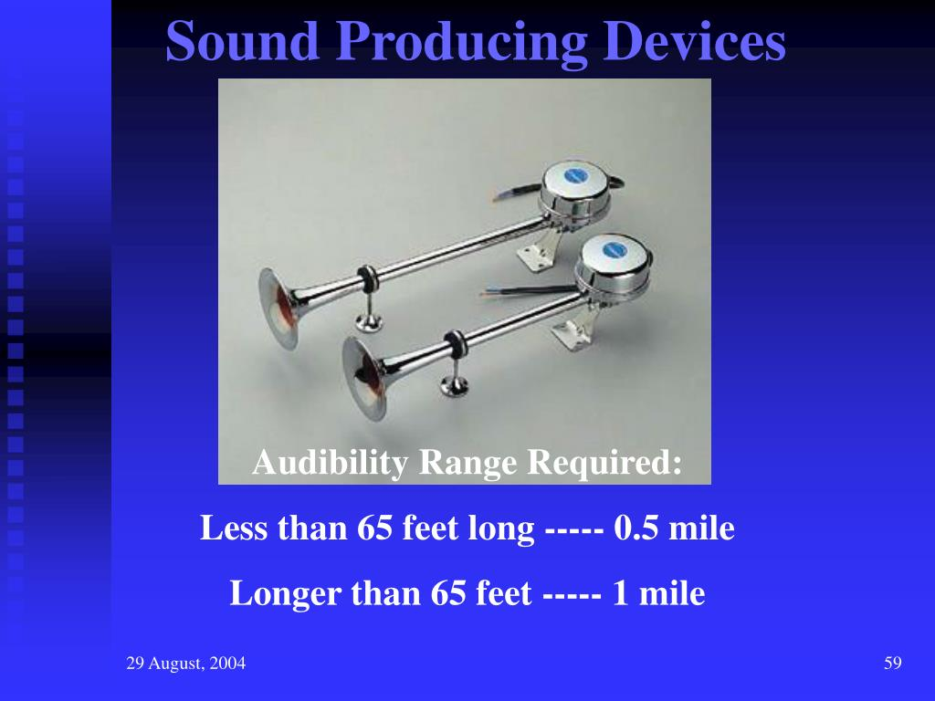Sound Producing Devices