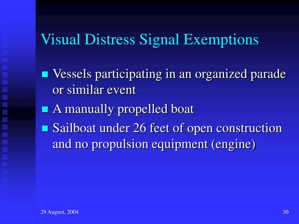 Visual Distress Signal Exemptions
